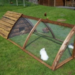 Rabbit Hutch with Run